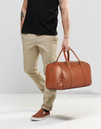 1060ddce8b Faux Leather The Clownfish Urion 26 Liters Travel Duffel Weekender Bag ( Caramel)