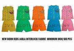 Cotton Unisex Kids Jabla, Size: 3 Months To 2 Years