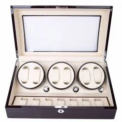 LT Wooden Automatic Rotation 6.7 Watch Winder Storage Case Display Box