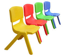 Red and Yellow FRP Kids Chair