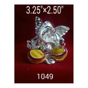 1049 Silver Plated Ganesha Statue