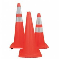 Prima Road Safety Cones 750 mm Square Base (Rubber Base)