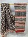 Hand Block Prints Mul Cotton Saree, 5.5 M (separate Blouse Piece)