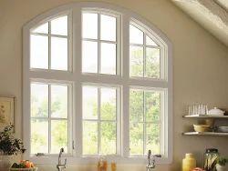White Top Arch Window