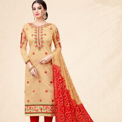 Fancy Chanderi Work Suit