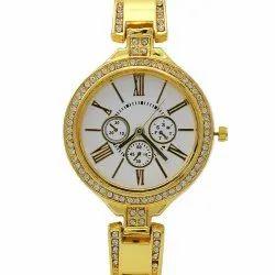 Ladies Round Party Wear Wrist Watches