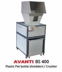 Avanti 3.75 Kw PLASTIC BOTTLE SHREDDERS Machine, Model: Avanti BS400, Automatic Grade: Semi-Automatic