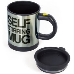 Coffee Mug With Self Stirring Button