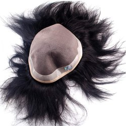 Human Hair Mens Patch and Toupee 11X9