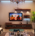 Acrylic and Wooden TV Unit