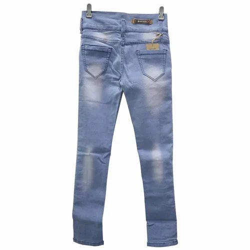 fcbc5b18dc7cd5 Blue Mild Washed Women Denim Trousers, Rs 335 /piece, Parushah ...