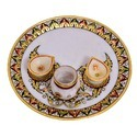 Marble Pooja Thali  9 inch