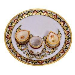 Marble Pooja Thali 9 inches