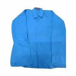Cotton School Plain Blue Shirt