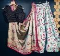 Digital Printed Heavy Silk Skirt Lehenga Choli