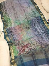 Banarasi Handloom Silk Saree - Pure Organza Silk Digital Print Saree
