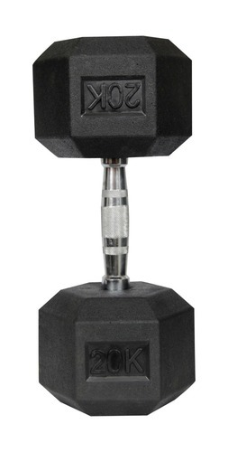 6-Sided Non-Slip Fixed Weight 20 kg Rubber Hex Dumbbell