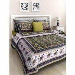 Sanganeri Printed Bed Sheet