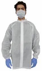 White Non Woven Protective Jacket