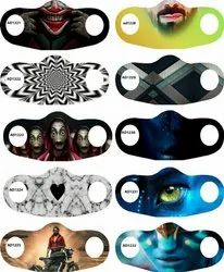 Reusable Digital Printed Face Mask, Number of Layers: 2