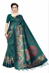 Silk saree indian style party wear printed saree with low price
