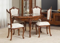 4 Natural Teak Wood Dining Table Set, For Home