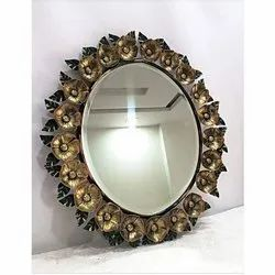 Glass And Iron Oval Wall Mirrors Packaging Type Box Rs 3000 Piece Id 22122558897