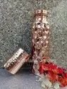 Diamond Cut Hexadic Copper Bottle Set with Gift Box