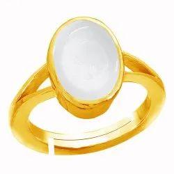 Moonstone Ring Men and Women Natural Asthdhatu Gemstone