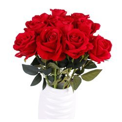 Hyperboles Artificial Red Rose Flower