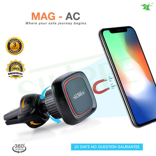 Siltree 360 Degree Rotation Car Ac Vent Mobile Phone Stand Car Magnetic Mobile Holder For Dashboard Phone Stand Cellular Phone Stands Cell Phone Stands म ब इल स ट ड Quality Server Mohali Id 19645949988