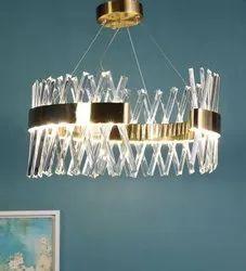 Cage Type Metal & Crystal LED Chandelier, Model Name/Number: Sl 5214