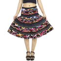 Patch Black Skirt