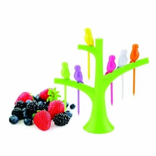 Plastic Fruit Fork Set