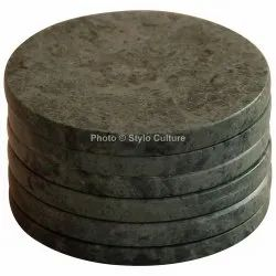 Affordable Green Marble 3.10 Inch Tea Coaster