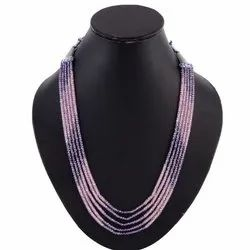 Cubic Zirconia Beaded Necklace