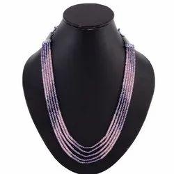 Cubic Zirconia Beaded Necklace