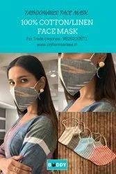 100% Cotton Double Layered Eco-friendly Non Surgical Premium Fashion Face Mask