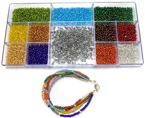 cd13c52eff3f9 Jewellery Making Silver Line Seed Beads Kit