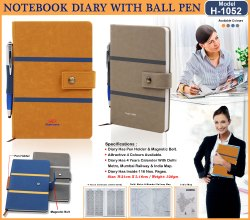 Notebook Diary with Ball Pen H-1052