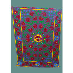 Indian Handmade Cotton Embroidered Bed Sheets