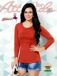 Shinker Cotton Saheli Full Sleeves Ladies T Shirt