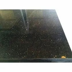 Black Galaxy Granite Slab, For Flooring,Counter Tops, Thickness: 10-15 mm