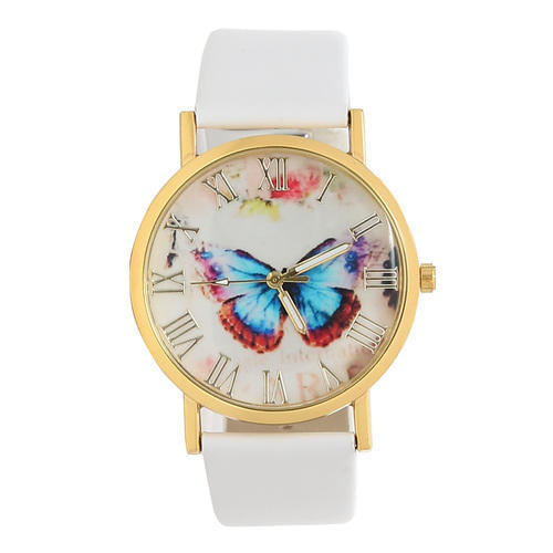 White Male Butterfly Watch, Model: ALW006