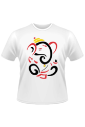 Cotton Casual Wear Ganpati Printed T Shirts