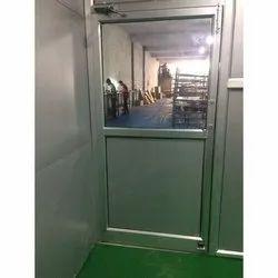 Silver Hinged Office Aluminum Door