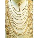 Gold vertical mala