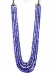 Tanzanite 4 String Smooth Roundel Beads