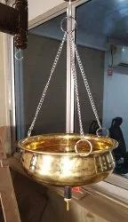 1.5 L Shirodhara Pot With Chain and Valve