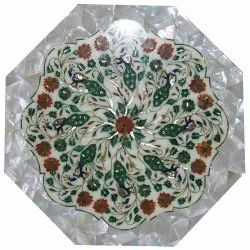 Inlay White Marble Table Tops